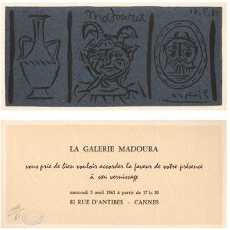 Linogravure Picasso - La Galerie Madoura