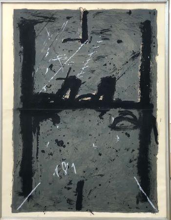 Lithographie Tàpies - La Grande Grise