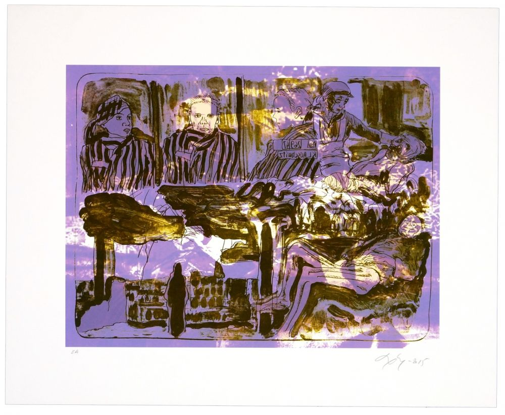 Lithographie Nørgaard - La guerre II