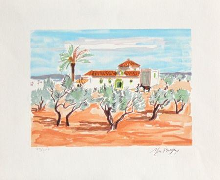 Lithographie Brayer - La hacienda