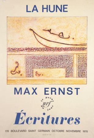 Lithographie Ernst - La Hune  Ecritures