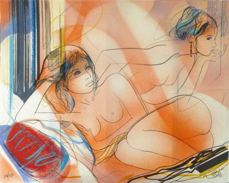 Lithographie Valadie - La Jalousie