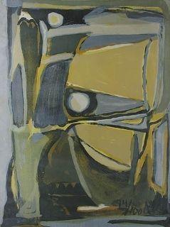 Lithographie Van Velde -  la jaune