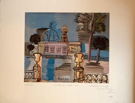 Gravure Sur Bois Dufy - La jeté du casino de Nice