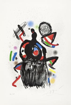 Lithographie Miró - La Jeteuse de sorts
