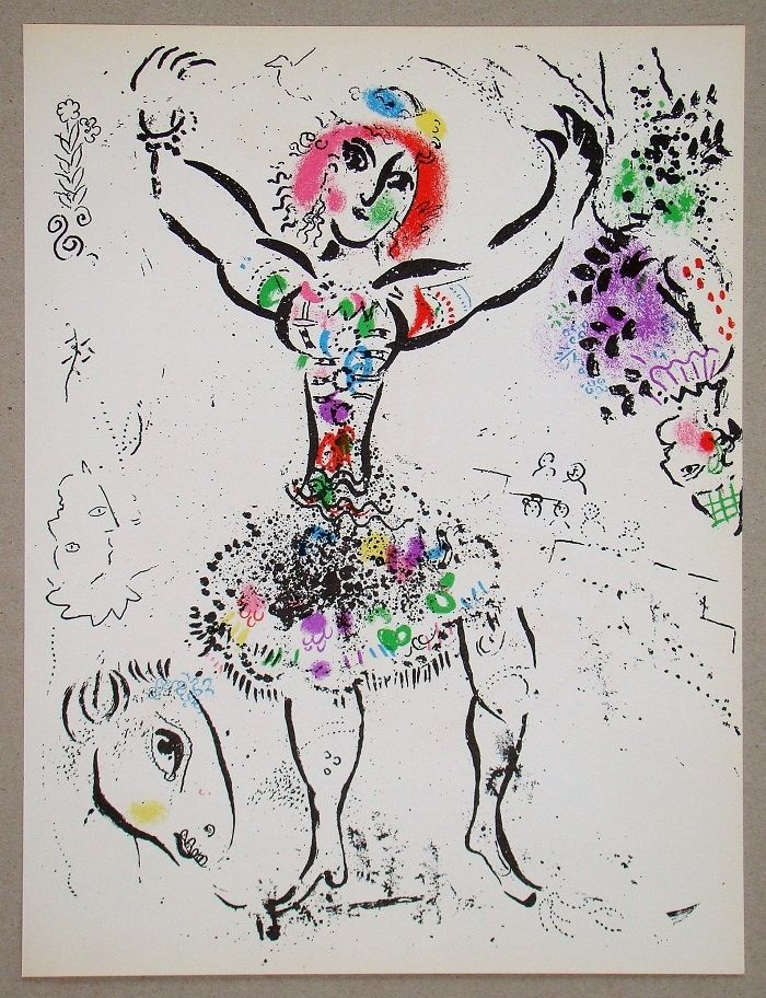 Lithographie Chagall - La Jongleuse