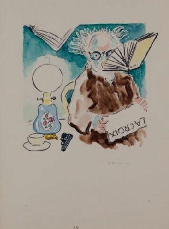 Lithographie Van Dongen - La Lecture du journal