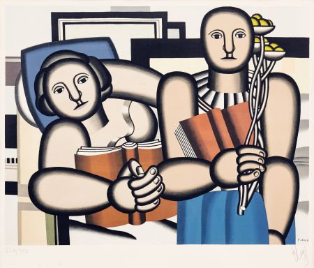Lithographie Leger -  La Lecture (The Reader)