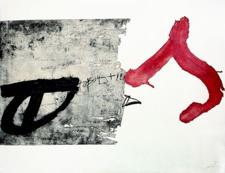 Gravure Tàpies - La lettre S
