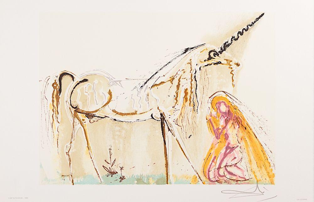 Lithographie Dali - La Licorne (Unicorn)