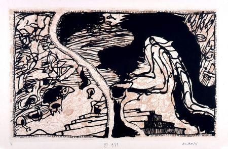 Eau-Forte Et Aquatinte Alechinsky - La ligne de front