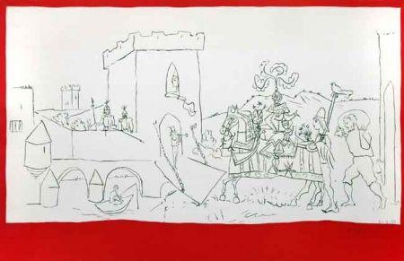 Lithographie Picasso - La Llegada Del Caballero