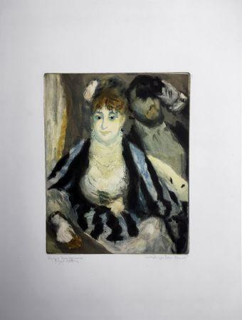 Aquatinte Renoir - LA LOGE (d'après Pierre-Auguste Renoir, gravé par Jacques Villon)