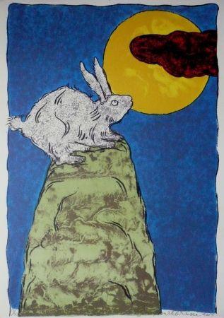 Lithographie Brusse - La luna