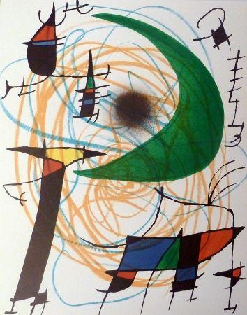 Lithographie Miró - La Lune Verte