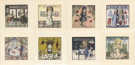 Livre Illustré Foujita - LA MÉSANGÈRE (Jean Cocteau) 1963. Ex. sur Japon nacré avec suite couleurs