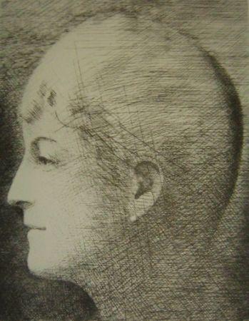 Gravure Marcoussis - La mère de l'artiste en 1900