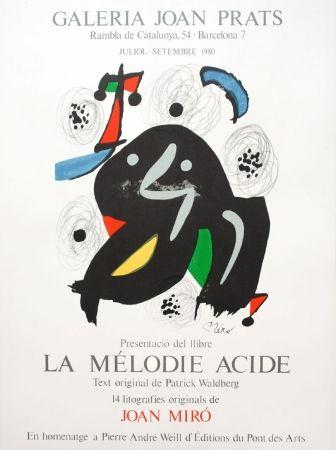 Lithographie Miró - La mélodie acide
