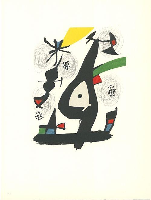 Lithographie Miró - La mélodie acide - 1