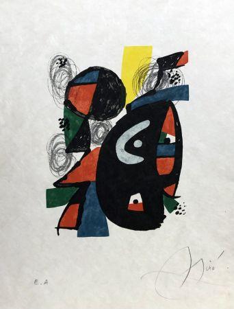 Lithographie Miró - La mélodie acide - 12