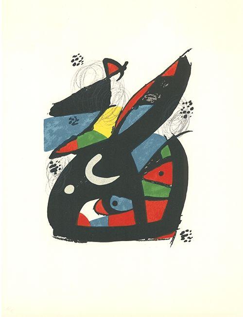 Lithographie Miró - La mélodie acide - 13