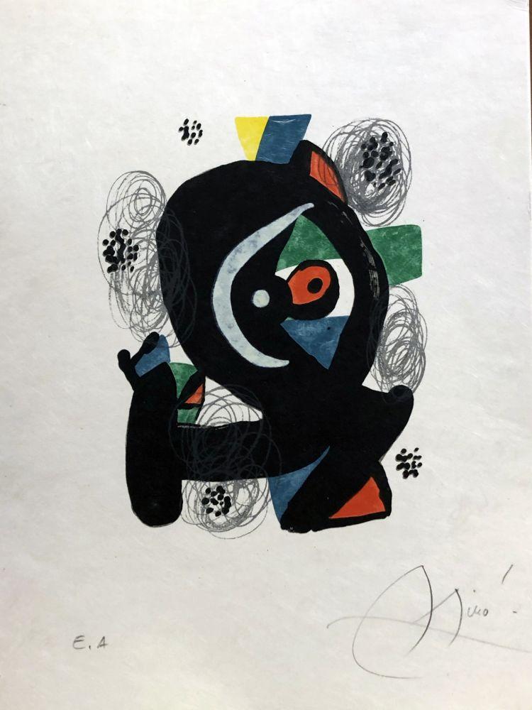 Lithographie Miró - La mélodie acide - 2