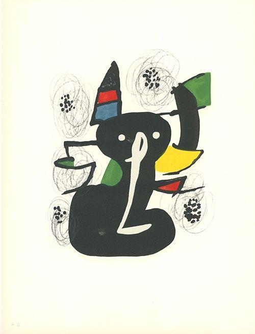 Lithographie Miró - La mélodie acide - 3