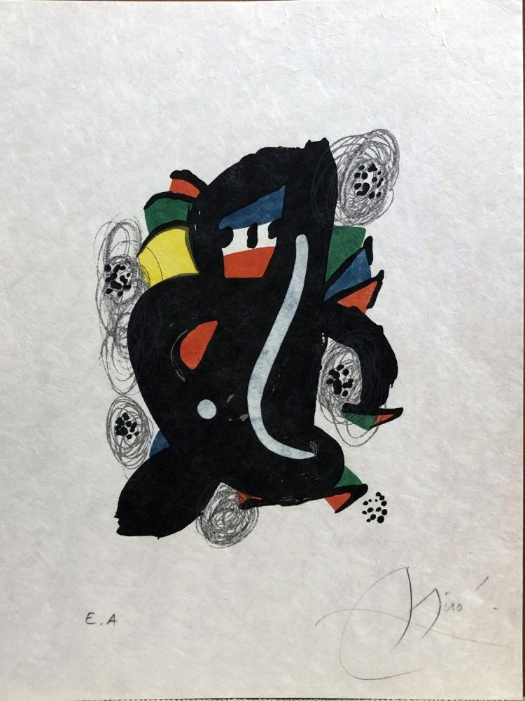 Lithographie Miró - La mélodie acide - 6