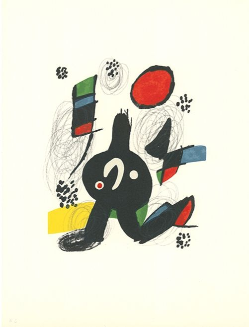 Lithographie Miró - La mélodie acide - 7