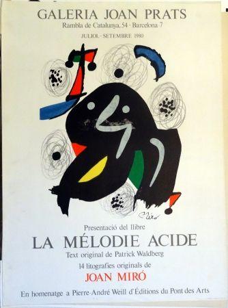 Affiche Miró - La Mélodie Acide 1980