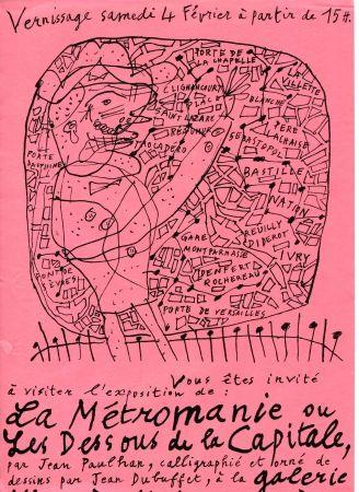 Lithographie Dubuffet - La Métromanie ou Les Dessous de la Capitale.