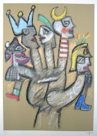 Sérigraphie Matta - La main aux marionnettes