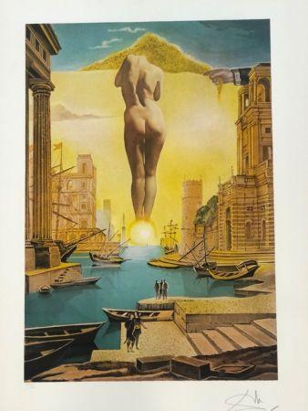 Lithographie Dali - La Main de Dali retirant la toison dòr