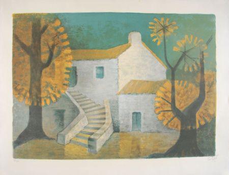 Lithographie Toffoli - La Maison Corse