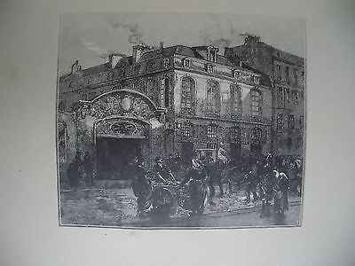 Gravure Sur Bois Lepere - La maison où mourut Béranger
