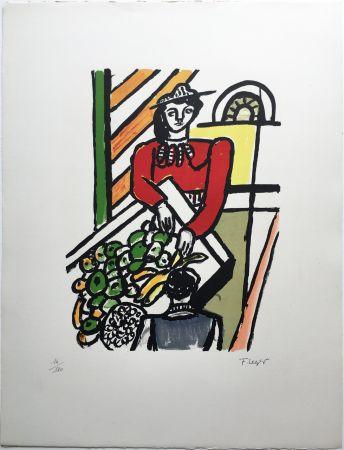 Lithographie Leger - LA MARCHANDE DE QUATRE SAISONS (1959).
