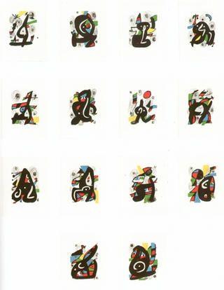 Lithographie Miró - La melodie àcide