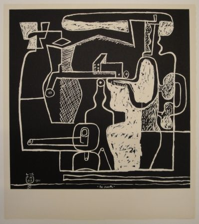 Lithographie Le Corbusier - La mer est toujours présente