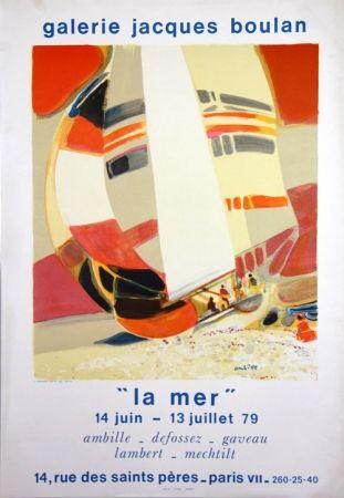 Lithographie Ambille - La Mer  Galerie Jacques Boulan