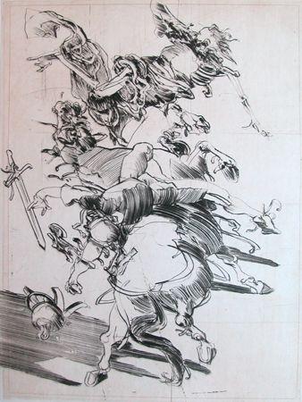 Gravure Weisbuch - LA MORT ET LE CAVALIER