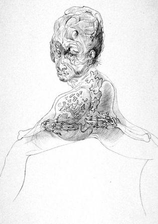 Lithographie Bellmer - La morte