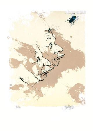 Lithographie Blanchard - La Mouche