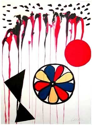 Lithographie Calder - La Mousson (1965)