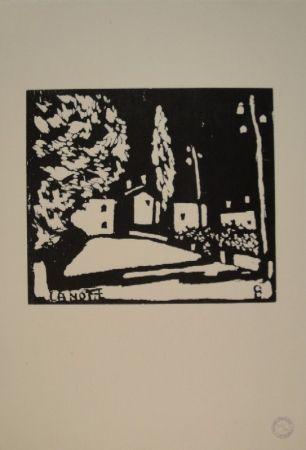 Gravure Sur Bois Giacometti - La Notte I