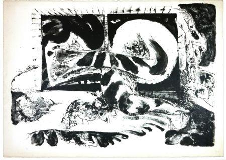 Lithographie Tabuchi - La Nuit