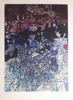 Eau-Forte Et Aquatinte Prassinos - La nuit de l'eau