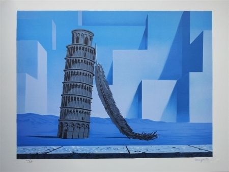 Lithographie Magritte - La nuit de Pise (night in Pisa)
