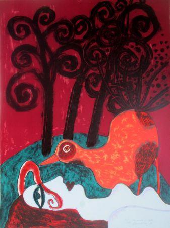 Lithographie Corneille - La nuit violette