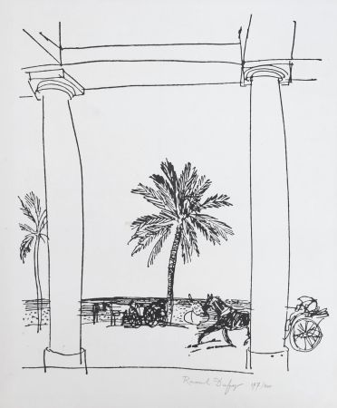 Lithographie Dufy - La Palais de la Méditerranée