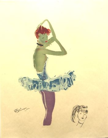 Lithographie Domergue - La Parisienne  Ballerine